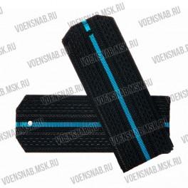 Погоны ВМФ на пластиковой основе, черные, 1 голубой просвет
