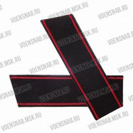 Погоны ВМФ со скосом, черные, красный кант