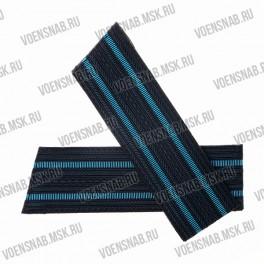 Погоны ВКС со скосом, синие с 1 голубым просветом