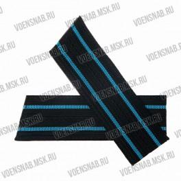 Погоны ВМФ со скосом, черные с 1 голубым просветом