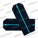 Погоны МО на пластиковой основе, синие с 1 голубым просветом