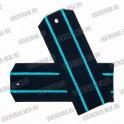 Погоны МО на пластиковой основе, синие с 2 голубыми просветами