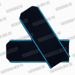 Погоны МО на пластиковой основе, синие с голубым кантом