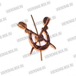Эмблема петличная ВКС (воздушно-космических сил) защитная