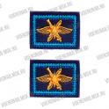 Нашивка с липучкой эмблема петличная (Сухопутные войска), защитная с желтой вышивкой