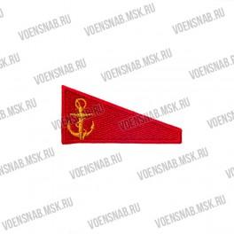 Нашивка с липучкой флаг РФ полукруг, синий кант