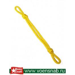 Шнур на фуражку жёлтый шёлковый