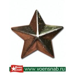 Звезда большая гладкая, серебряная