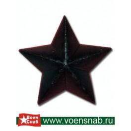 Звезда большая гладкая, черная
