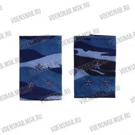Фальш-погоны КМФ серо-голубые, старший лейтенант