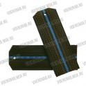 Погоны МО на пластиковой основе, оливковые с 1 голубым просветом
