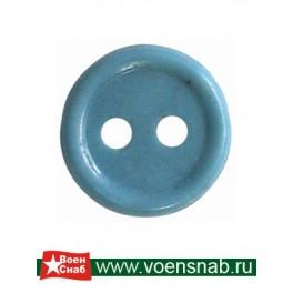Пуговица двух прокольная, диаметр 11, аминопласт