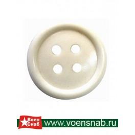 Пуговица четырех прокольная, диаметр 17, аминопласт