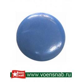Пуговица на ножке диаметр 14, голубая, аминопласт