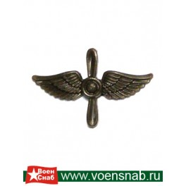 Эмблема петличная ВВС, защитная, пластмассовая
