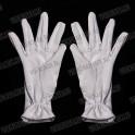 Перчатки белые, трикотажные