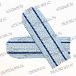 Погоны Юстиции на пластиковой основе белые с 1 васильковым просветом