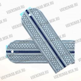 Погоны Юстиции на пластиковой основе серо-голубые с 2 васильковыми просветами