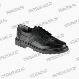 Полуботинки форменные, лакированные, на шнурках