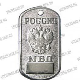 """Жетон """"Россия МВД"""" (череп с черным беретом)"""