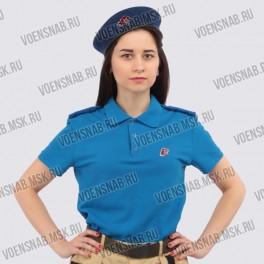 Рубашка-поло, синяя. Юнармия