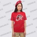 Рубашка-поло, красная. Юнармия