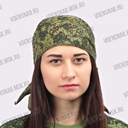 Бандана (косынка), зеленый камуфляж (хлопок 100%)