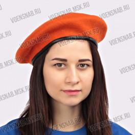 Берет фетровый оранжевый (МЧС)