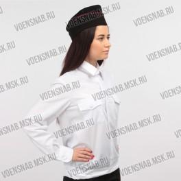 Рубашка форменная белая, с длинным рукавом