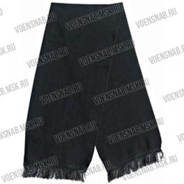 Шарф черный размер 120х20, пан.70%, шерсть 30%