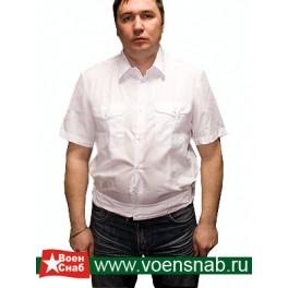 Рубашка форменная белая, с коротким рукавом