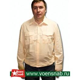Рубашка форменная кремовая, с длинным рукавом