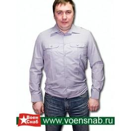 Рубашка форменная серая ФСИН, с длинным рукавом