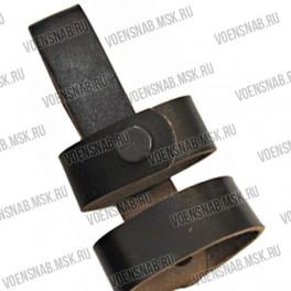 Держатель палки резиновой (черная кожа, высота шлевки 6,5 см) Тонфа арт.3011