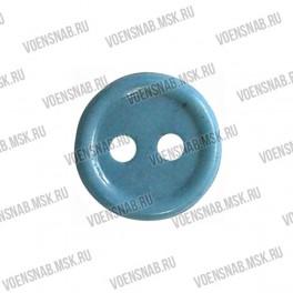 Пуговица 2-х прокол.d11, светло-голубая, аминопласт
