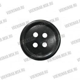 Пуговица 4-х прокол.d14, черного цвета, аминопласт