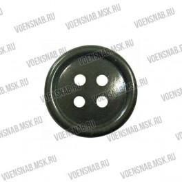 Пуговица 4-х прокол.d14, темно-серого цвета, аминопласт