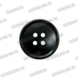 Пуговица 4-х прокол.d23, темно-серого цвета, аминопласт