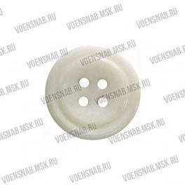 Пуговица 4-х прокол.d23, белого цвета, аминопласт