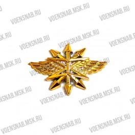 Эмблема петличная Войск связи (новая) защитный пластик