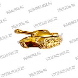 Эмблема петличная Войск связи (новая) золотой пластик