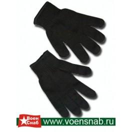 Перчатки черные двойные п/ш