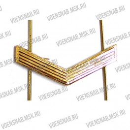 Знак различия МВД ефрейтор золото (узкая полоска 10х45)
