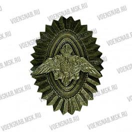 Кокарда ПВ офицерского состава золотая (ребристая)