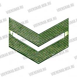 Знак различия МО младший сержант золото (двойной уголок)