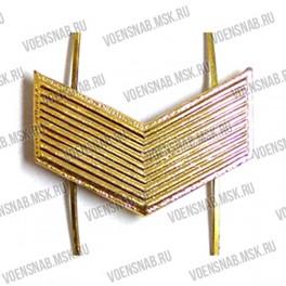 Знак различия МО, сержант, защитного цвета (тройной уголок)
