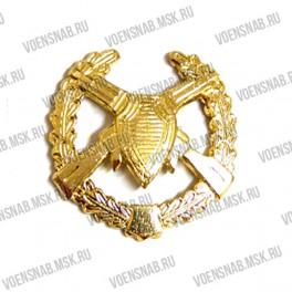 Эмблема петличная Войск связи (старая) защитная