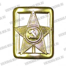 Пряжка со звездой защитного цвета