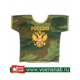 Рубашка малая сувенирная с вышивкой Россия герб