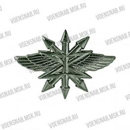 Эмблема петличная Службы военных сообщений (СВС) (новая) защитная